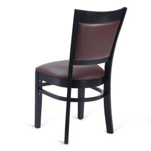 Black Wood Easton Restaurant Chair with Burgundy Vinyl Seat & Back