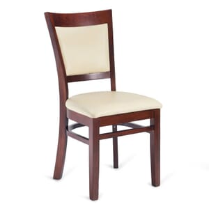 Dark Mahogany Wood Finish Easton Commercial Chair with Upholstered Seat & Back