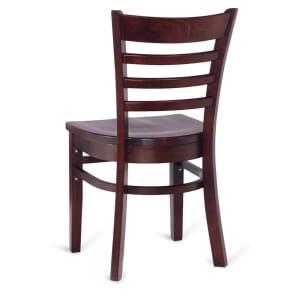 Dark Mahogany Wood Ladderback Commercial Chair