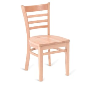 Natural Wood Ladderback Commercial Chair with Solid Beechwood Seat