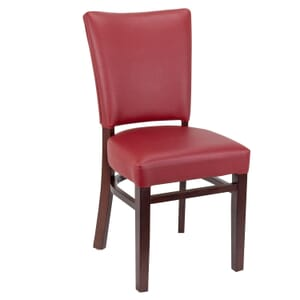 Wood Dali Side Chair with Custom Upholstered Seat and Back (Front)