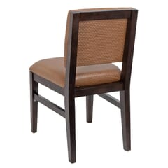 Fully Upholstered Walnut Wood Connor Restaurant Chair