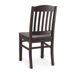 Solid Wood Bull Dog Restaurant Chair in Dark Mahogany