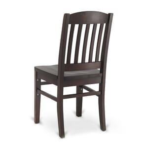 Solid Wood Bull Dog Restaurant Chair in Walnut