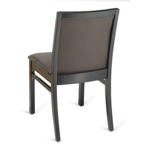 Upholstered Black Wood Morgan Restaurant Chair