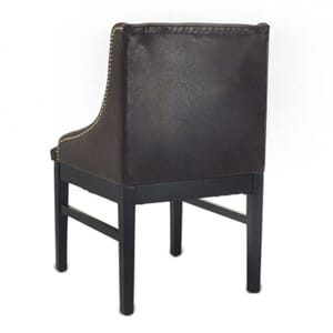 Black Wood Bentley Restaurant Chair with Brown Vinyl