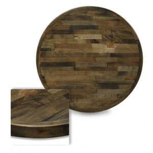 Butcher Block Mixed Wood Indoor Round Dining Table Top in Urban Grey Finish (42