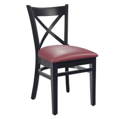 Solid Wood Farmhouse Cross-Back Commercial Chair in Black