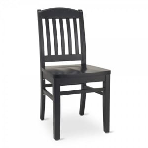 Black Wood Bulldog Commercial Chair with Solid Beechwood Seat