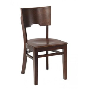 Walnut Wood Index Chair With Veneer Seat (front)