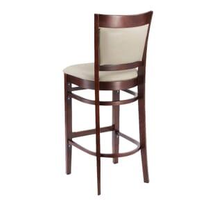 Dark Mahogany Wood Finish Easton Commercial Bar Stool with Upholstered Seat & Back