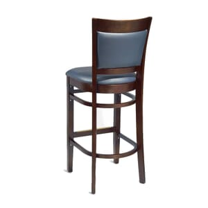 Walnut Wood Finish Easton Commercial Bar Stool with Upholstered Seat & Back