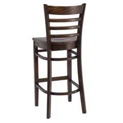 Walnut Wood Ladderback Commercial Bar Stool