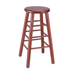 Mahogany Traditional Backless Wood Commercial Bar Stool