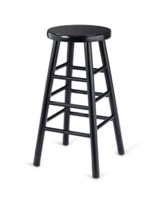 Traditional Backless Commercial Bar Stool in Black