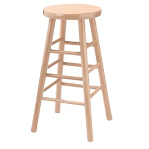 Natural Traditional Backless Wood Commercial Bar Stool
