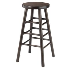 Traditional Backless Commercial Bar Stool in Walnut