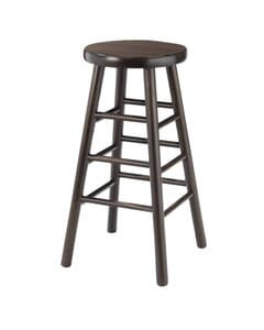 Walnut Traditional Backless Wood Commercial Bar Stool