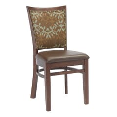 Fully Upholstered Solid Wood Restaurant Side Chair with Nailhead Trim