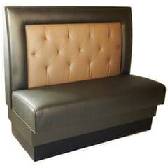 Square Back Style Tufted Restaurant Booth