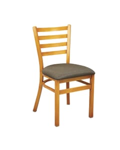 Cherry Steel Ladderback Restaurant Chair
