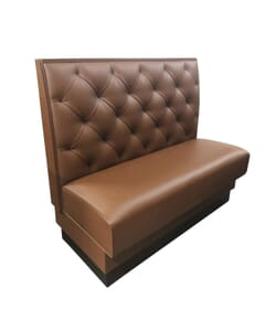 Quilted Style Tufted Restaurant Booth