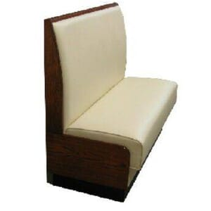 Amalfi Solid Wood Upholstered Restaurant Booth