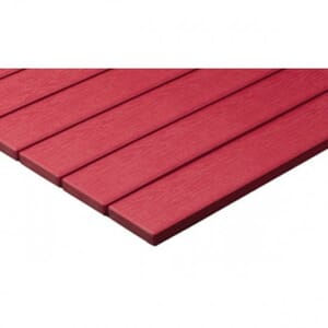 Red Synthetic Teak Wood Outdoor Restaurant Table Top