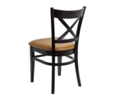 Espresso Wood Cross-back Commercial Chair