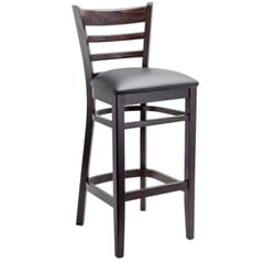 Espresso Wood Ladderback Commercial Bar Stool