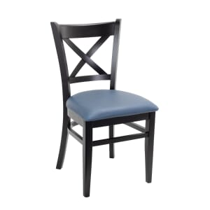 Black Wood Cross-back Commercial Chair