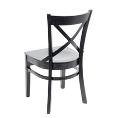 Solid Beech Wood Cross-back Commercial Chair in Black