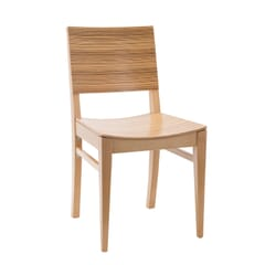 Natural Wood Madison Commercial Chair in Zebra Styler Pattern
