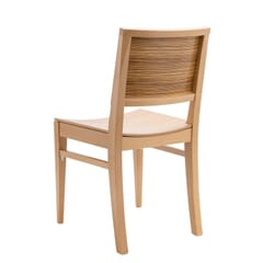 Natural Wood Madison Commercial Chair in Zebra Style Pattern