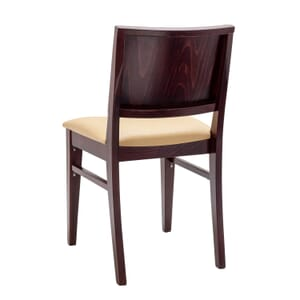 Fully Upholstered Walnut Wood Commercial Chair with Nail-head Trim