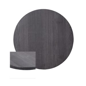 Pewter High-Density Composite Round Rustic Tabletop (24