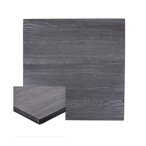 High-Density Composite Square Rustic Tabletop in Pewter (24