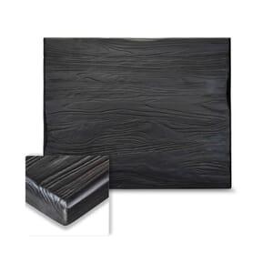 Rectangular Reclaimed Elm Wood Table Top in Black