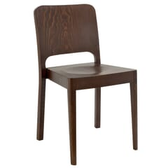 Solid Wood Collin Stackable Commercial Chair in Walnut