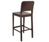 Walnut Wood Collin Commercial Bar Stool with Veneer Back
