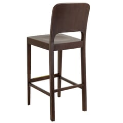 Solid Wood Collin Commercial Bar Stool in Walnut