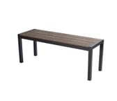 Brushed Brown Synthetic Wood Aluminum Restaurant Bench (16