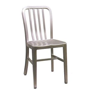 Outdoor Navy-Style Vertical-Back Commercial Chair