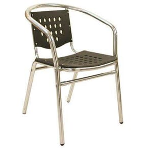 Stackable Aluminum and Melamine Patio Arm Chair