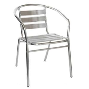 Stackable Aluminum Patio Arm Chair
