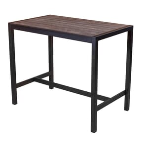 Brushed Brown Synthetic Wood Aluminum Restaurant Table (31