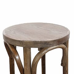 Antique Grey Bistro Style Backless Commercial Bar Stool
