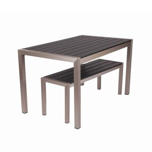 Black Synthetic Aluminum Restaurant Bench