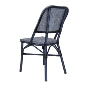 Powder Coated Charcoal Aluminum Frame with Textilene Gray Seat and Back