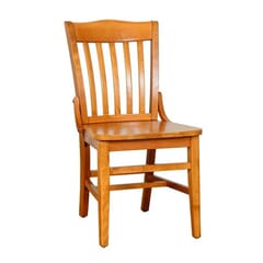 Solid Wood Schoolhouse Restaurant Dining Chair in Cherry